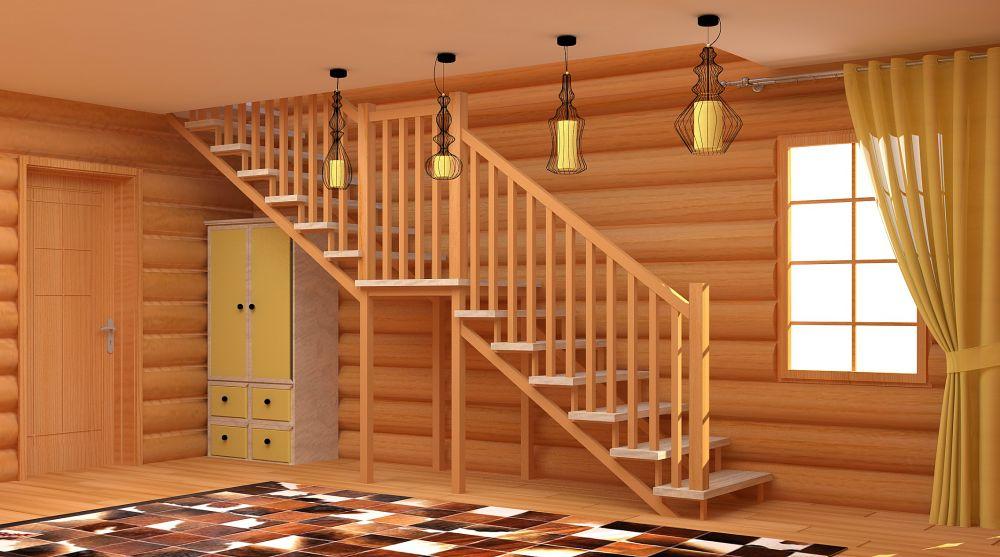 Межэтажные лестницы в деревянном доме