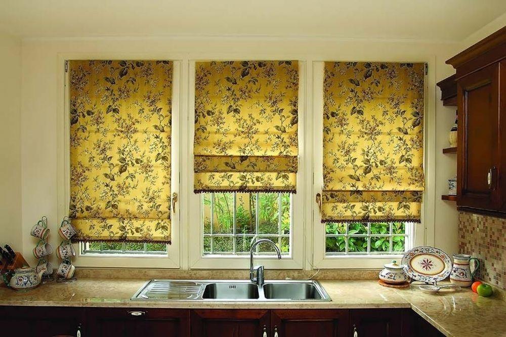 Римская штора фото для кухни своими руками